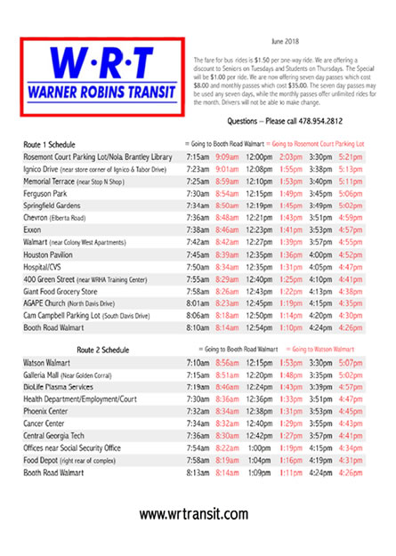 Route Schedule